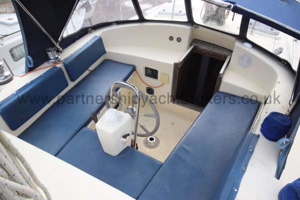 Ocean Cruising Sea Trader  41 ft Yacht Cockpit view -
