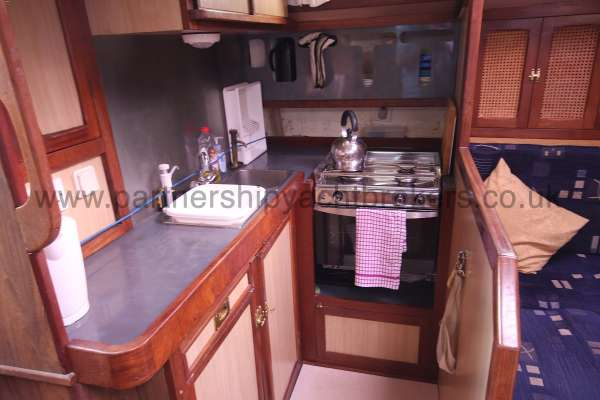 Ocean Cruising Sea Trader  41 ft Yacht The galley - Port side element