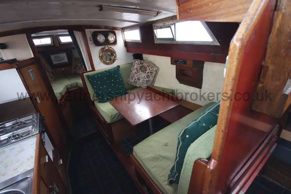 Colvic Family Fisher Saloon view - Dinette converts to a double berth