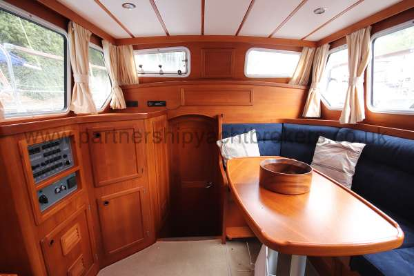 Nauticat 331 The deck saloon - Looking aft