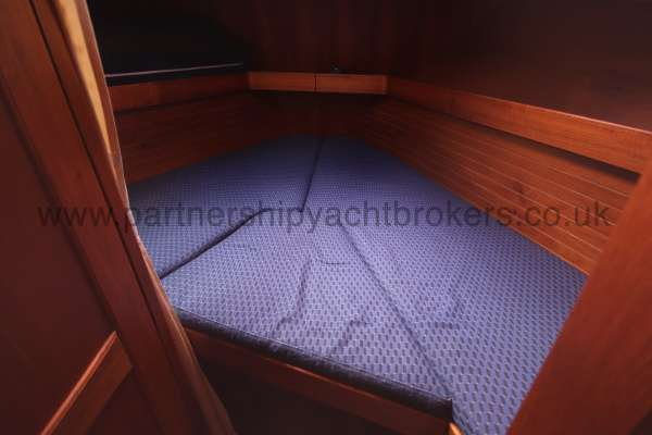 Nauticat 331 The fore cabin - Offers a double berth