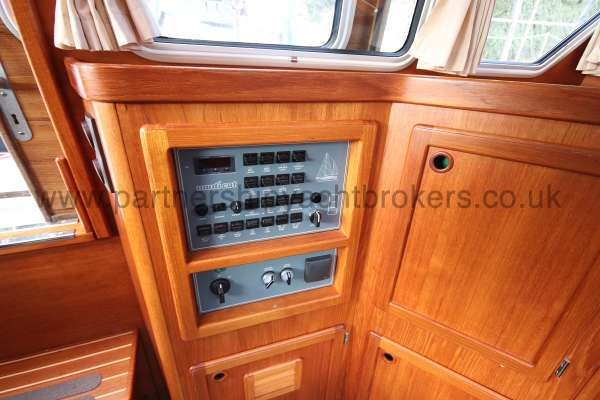Nauticat 331 The electrics panel - located in the deck saloon to starboard