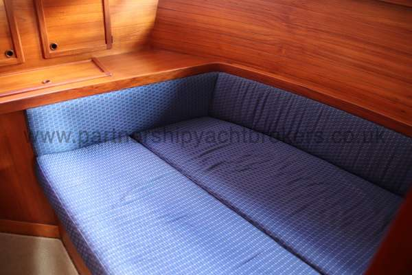 Nauticat 331 The aft cabin - Offers a double berth