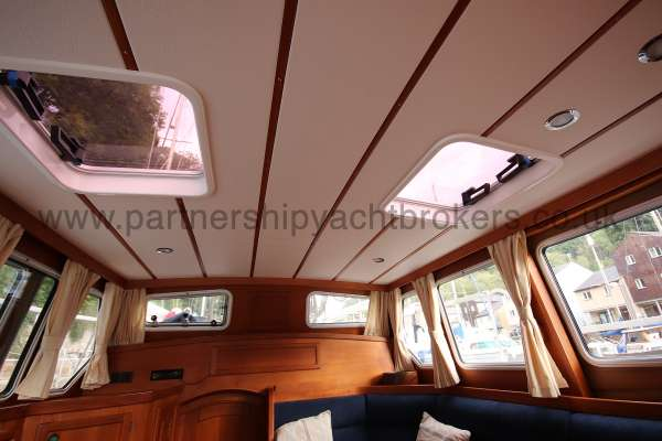 Nauticat 331 The deck head in the deck saloon -