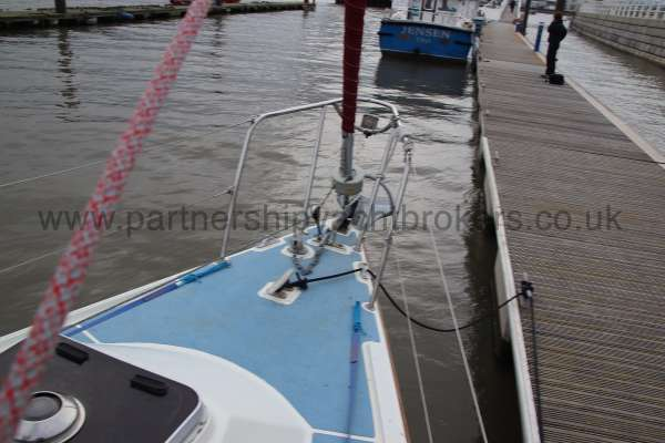 Westerly Merlin Fore deck view -