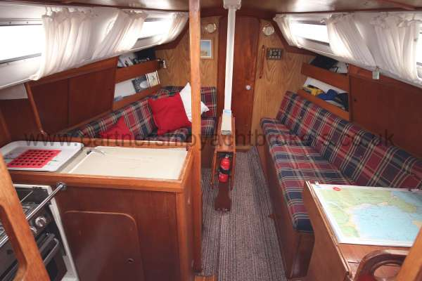 Westerly Merlin The saloon - Seen from the companionway