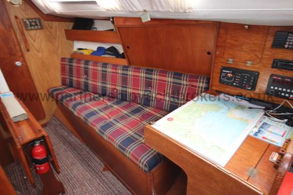 Westerly Merlin The saloon  - Starboard side
