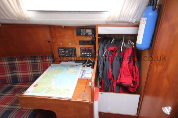 Westerly Merlin The navigation desk - And wet locker
