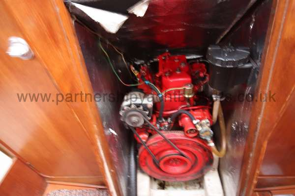 Westerly Merlin The engine compartment -