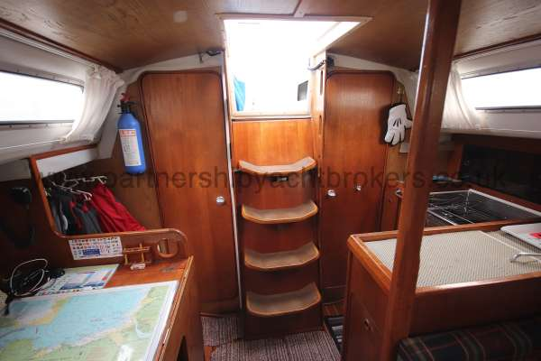 Westerly Merlin The saloon looking aft -