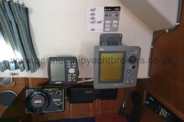 Halmatic 30 Instruments - At the navigation table